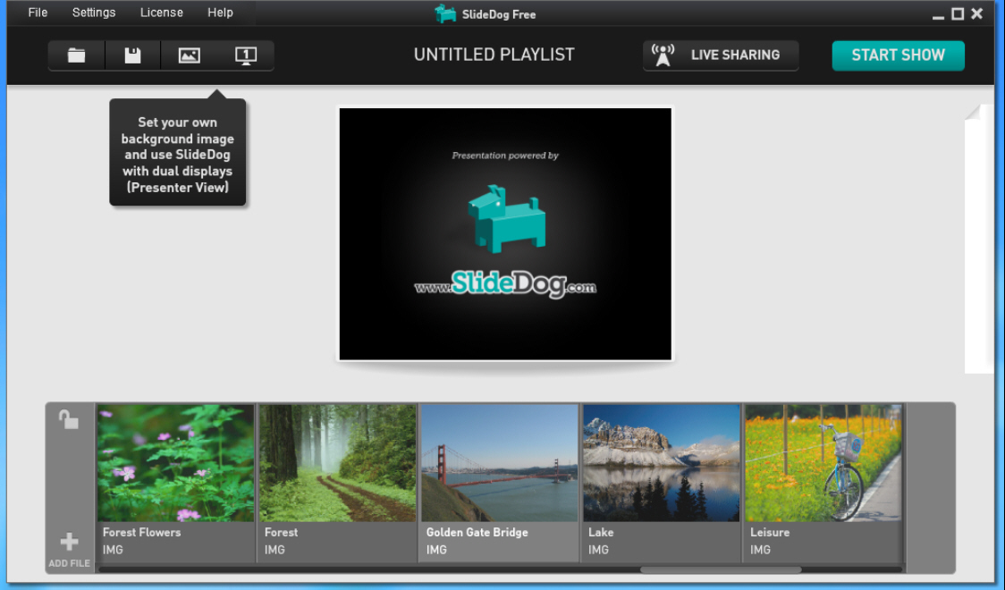 slidedog lets you create a multimedia presentation and share it online