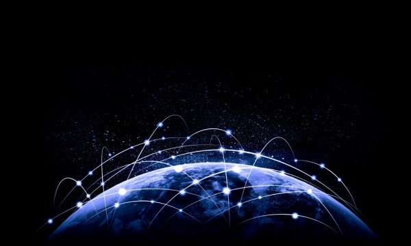 Internet Worldwide Globe Connections