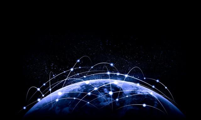Internet Worldwide Globe Connections