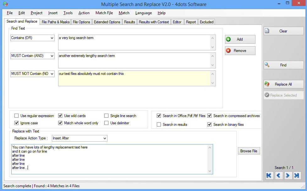 PSPad forum / English discussion forum / Multi-Search