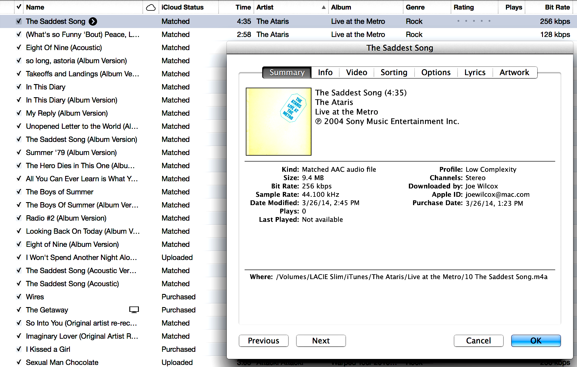 how to delete downloaded songs from itunes library