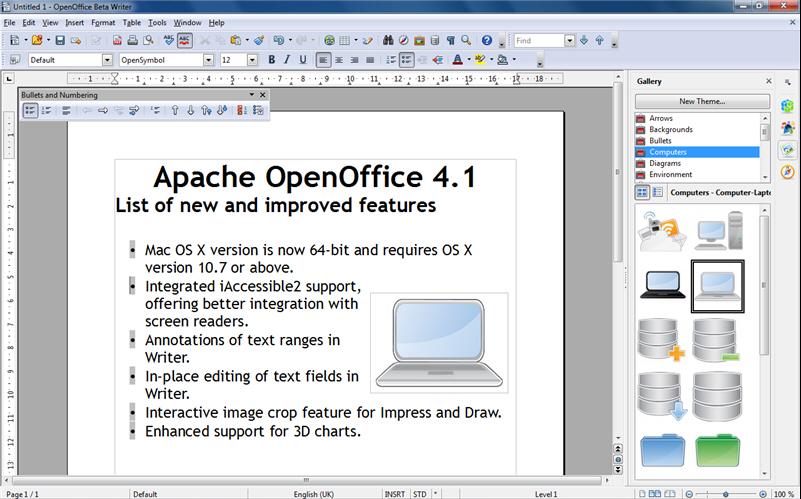 Open office 2014 скачать бесплатно русская версия