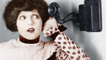Woman Telephone Old Phone Talking