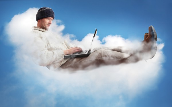 man in cloud