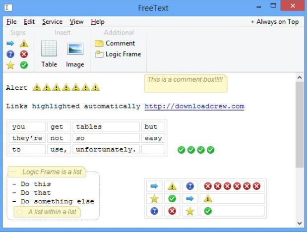 Freetext