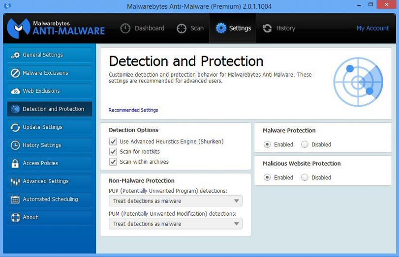 Malwarebytes main
