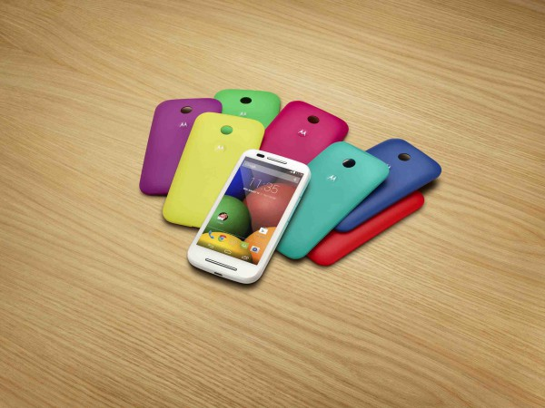 Motorola Moto E with Shells