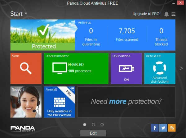 Panda Cloud Antivirus 3 Free adds scheduler, USB vaccination