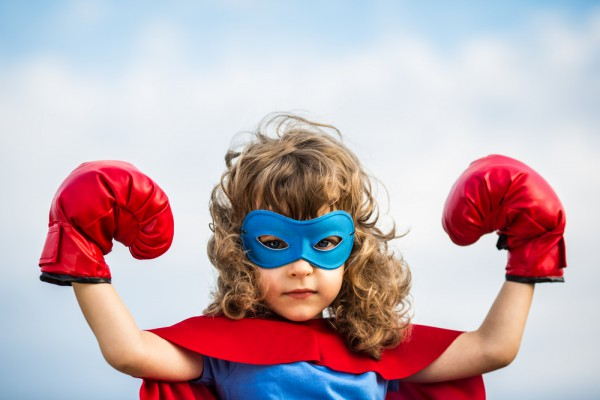 Superhero child girl Box gloves Boxing