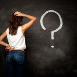 Why Confused Question Mark Woman Wall Puzzled