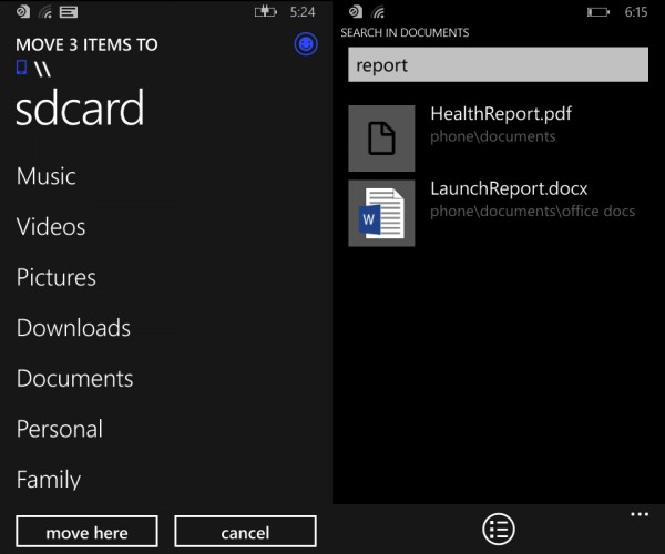Windows Phone 8.1 File Manager Small 2