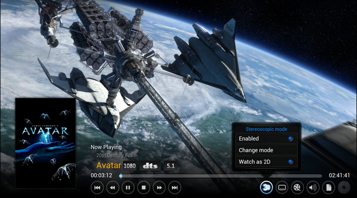 XBMC gains stereoscopic 3D support, Android hardware