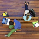 Education Students Woman Man Laptop