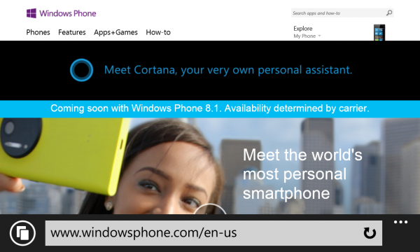 Internet Explorer 11 Windows Phone 8.1