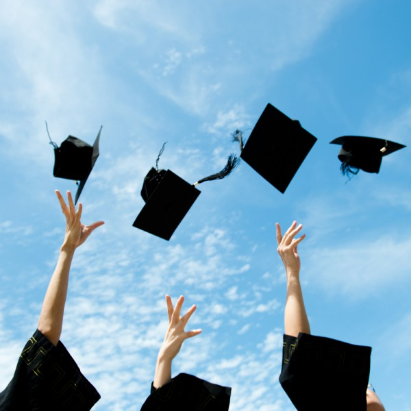 Mortar boards cloud education