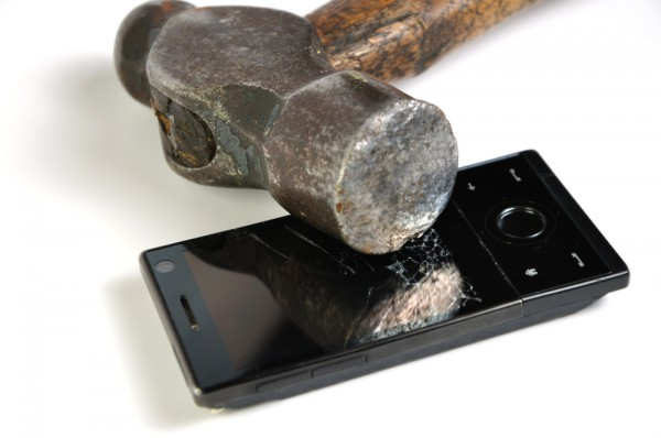 Smartphone Smashed Screen Hammer