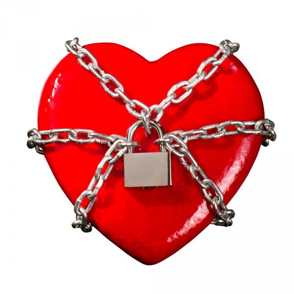 padlocked heart