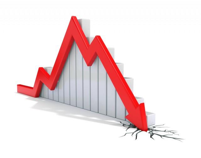 Falling sales graph