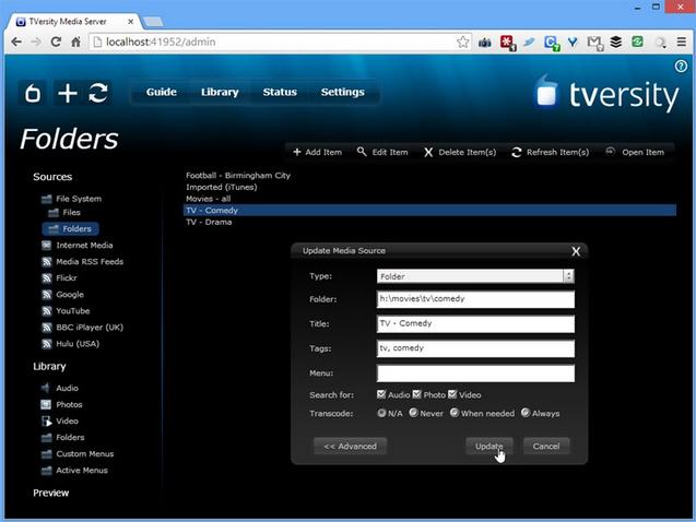 TVersity Media Server