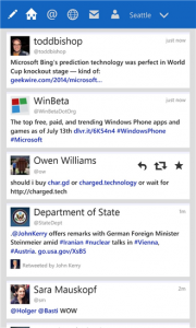 Tweetium Windows Phone