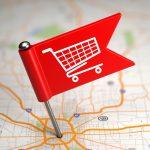Geo-location marketing shopping
