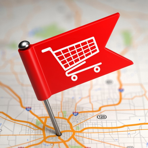 Geo-location marketing shopping