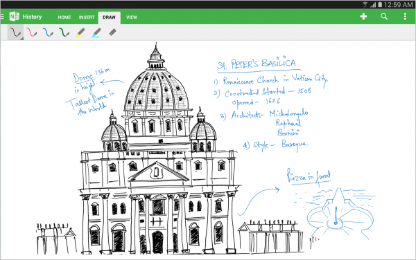 Inking-with-OneNote