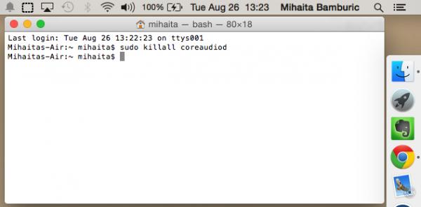Mac OS X 10.10 Yosemite Audio Bug