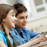 School children laptop