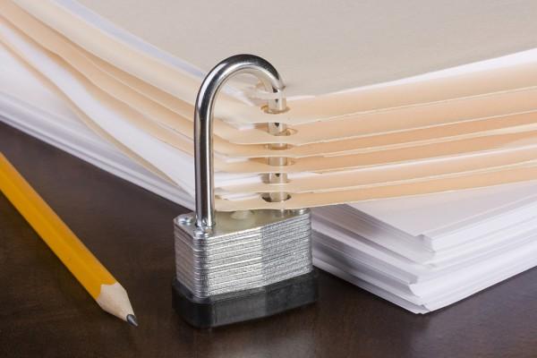 Secure document padlock