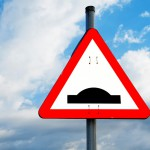 Speed Bump Sky Warning Sign