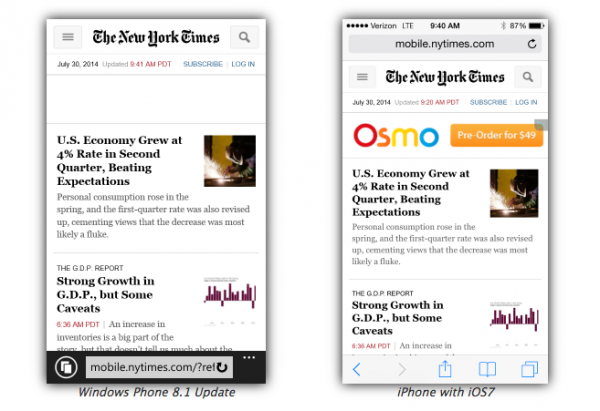 The New York Times Internet Explorer 11 Safari iOS 7