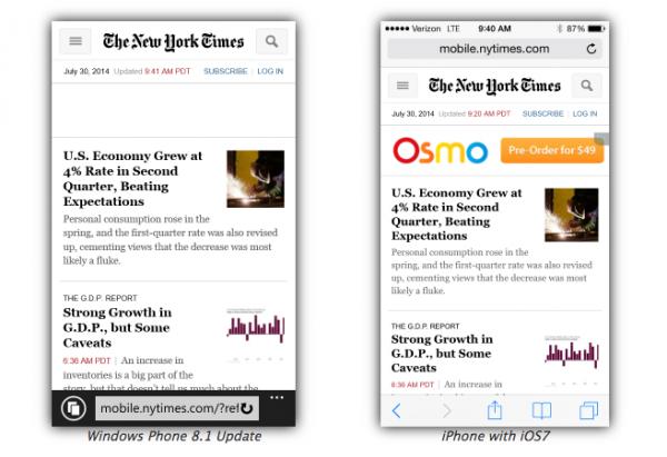 The New York Times Internet Explorer 11 Safari iOS 7
