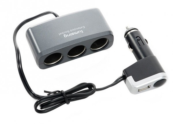 Lumsing E-DR15 car charger: Splitting one cigarette lighter socket into three [Review]