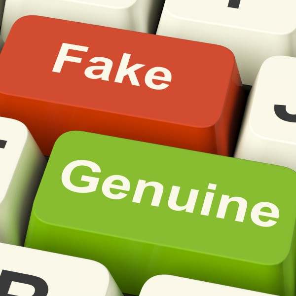 fake genuine real