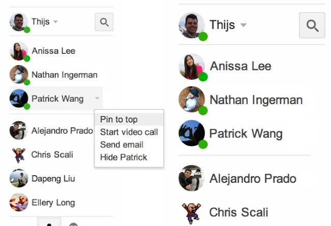 Google makes it easier to see who's online in Hangouts for Gmail