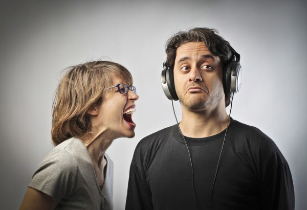 indifferent not listening ignoring wife woman husband man