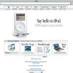 Apple Homepage with iPod
