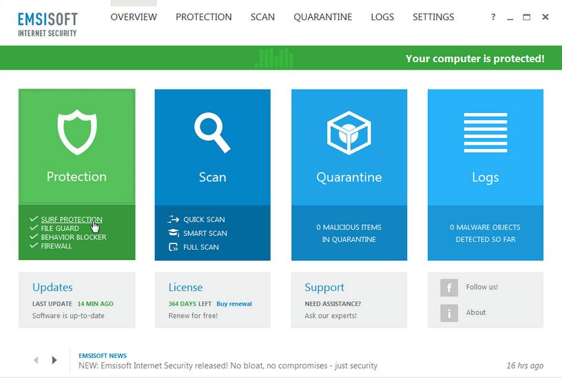 Emsisoft Internet Security 9