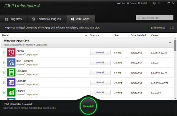 IObit Uninstaller 4 fully removes Windows 8 apps  Iobit
