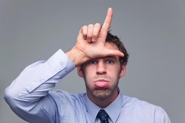Loser man head sign