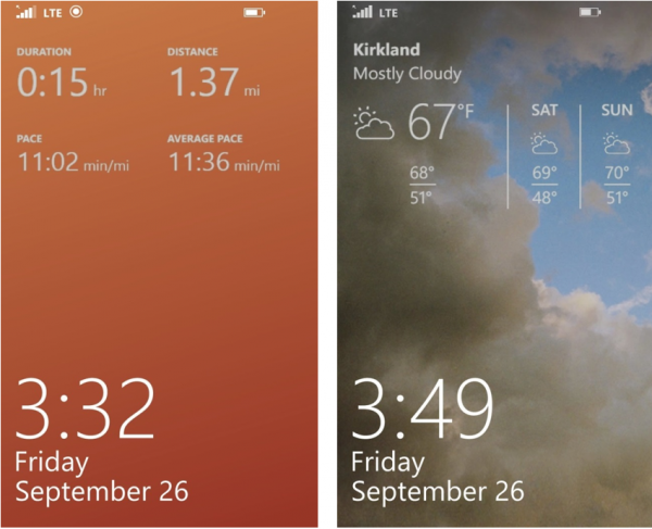 MSN-Health Fitness Lockscreen Weather