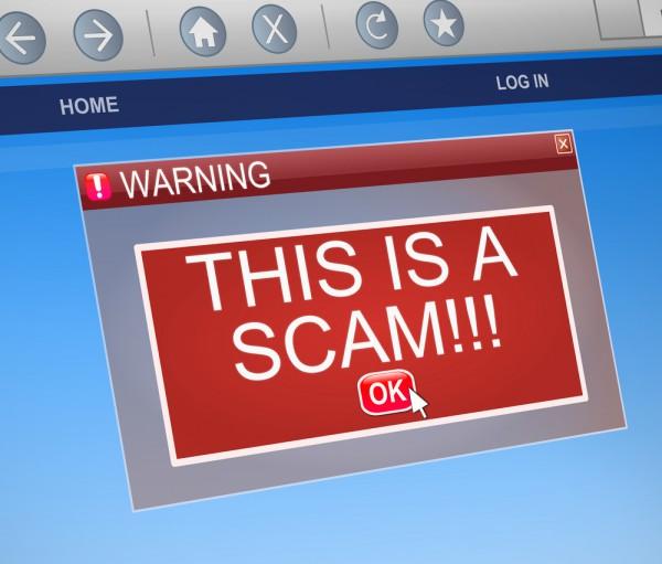 Scam advert