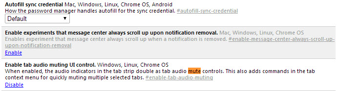 chrome tab audio muting