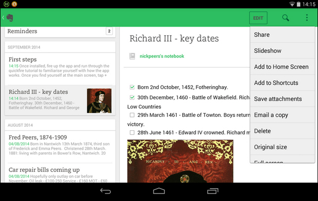 Evernote for Android 6 0 unveils fresh new look, adds Web