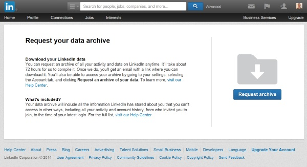 LinkedIn introduces data export option and new security features