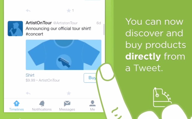 "Twitter tests ""Buy"" button to allow purchasing via tweet"