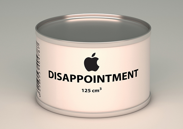 Apple disappointment