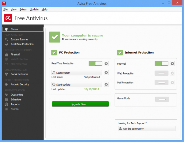 تحميل برنامج افيرا انتي فيرس Avira Free Antivirus 2016