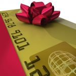 Credit card gift bow